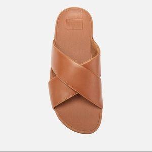 Fitflops Leather Cross Slide Sandals